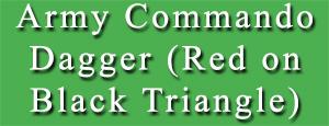 Army Commando Dagger (Red on Black Triangle)